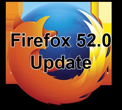 Firefox 52.0 update