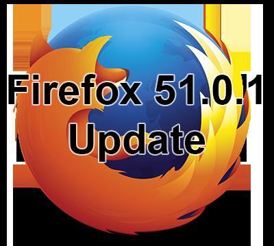 Firefox 51.0.1 update